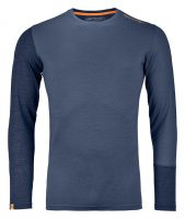 Ortovox Merino Rock n Wool Long Sleeve - Night Blue Blend