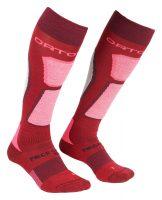 Ortovox Women's Merino Ski Rock 'n' Wool Socks - Dark Blood