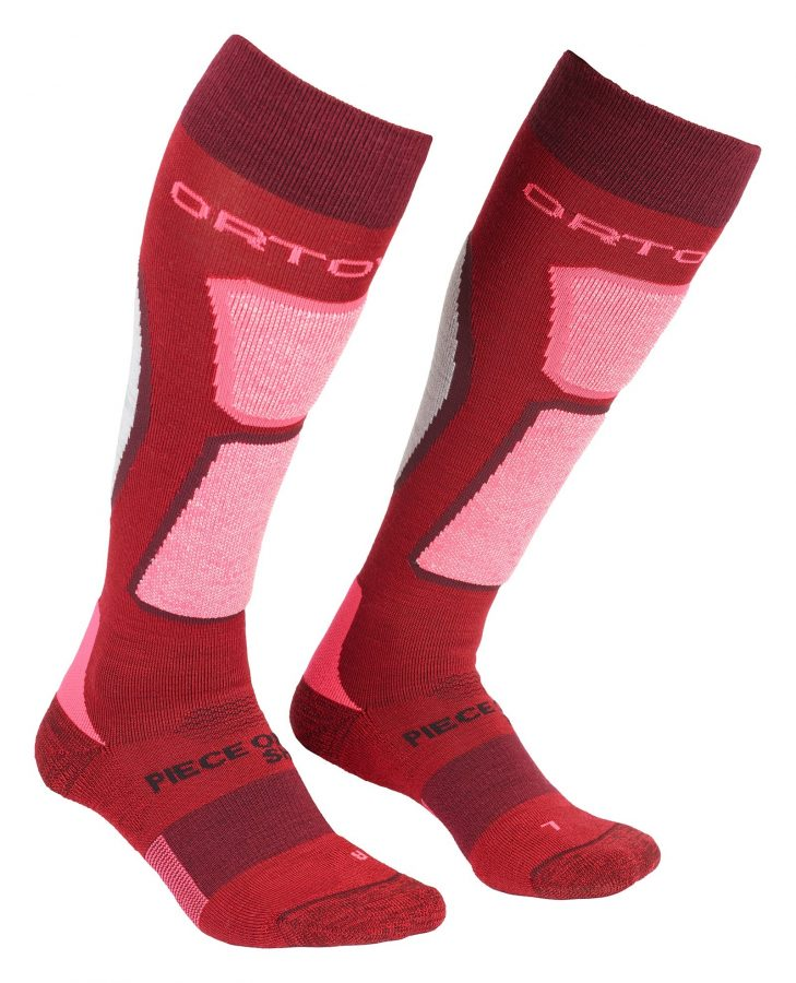 Ortovox Women's Merino Ski Rock 'n' Wool Socks - Dark Blood