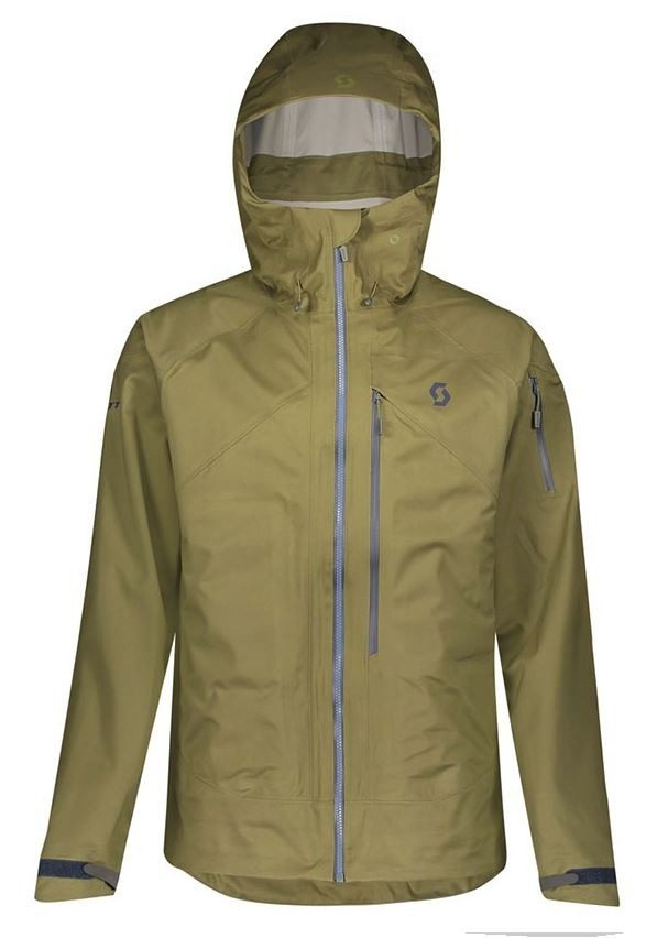 Scott Explorair 3L Men's Jacket - Green Moss - Front View