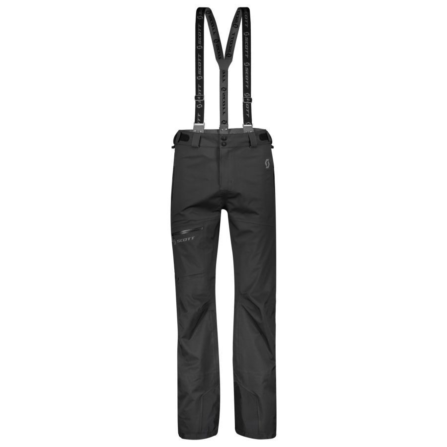 Scott Explorair 3L Men's Pants - Black - Front View
