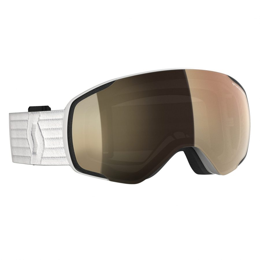 Scott Vapor Light Sensitive Goggle - White LS Bronze Chrome - Front View