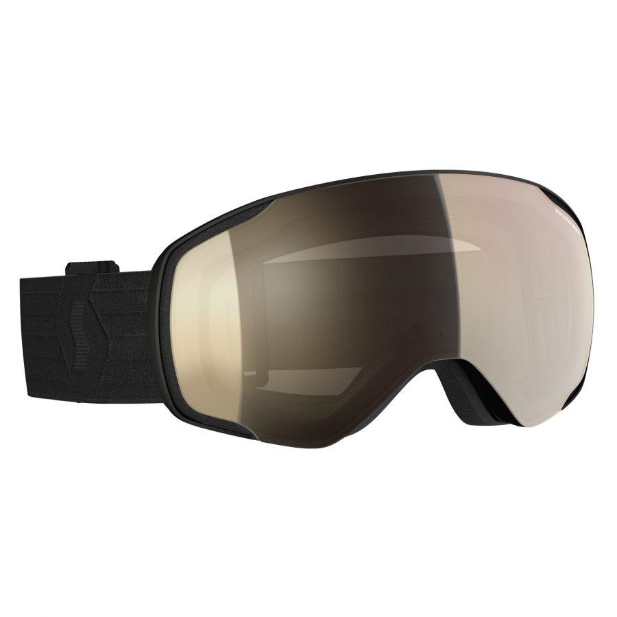 Scott Vapor Light Sensitive Goggles - Black LS Bronze Chrome - Front View