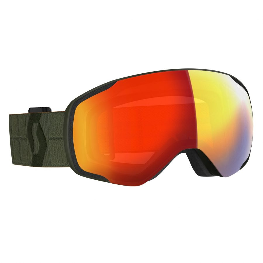 Scott Vapor Goggle - Khaki Green Enhancer Red Chrome - Front View