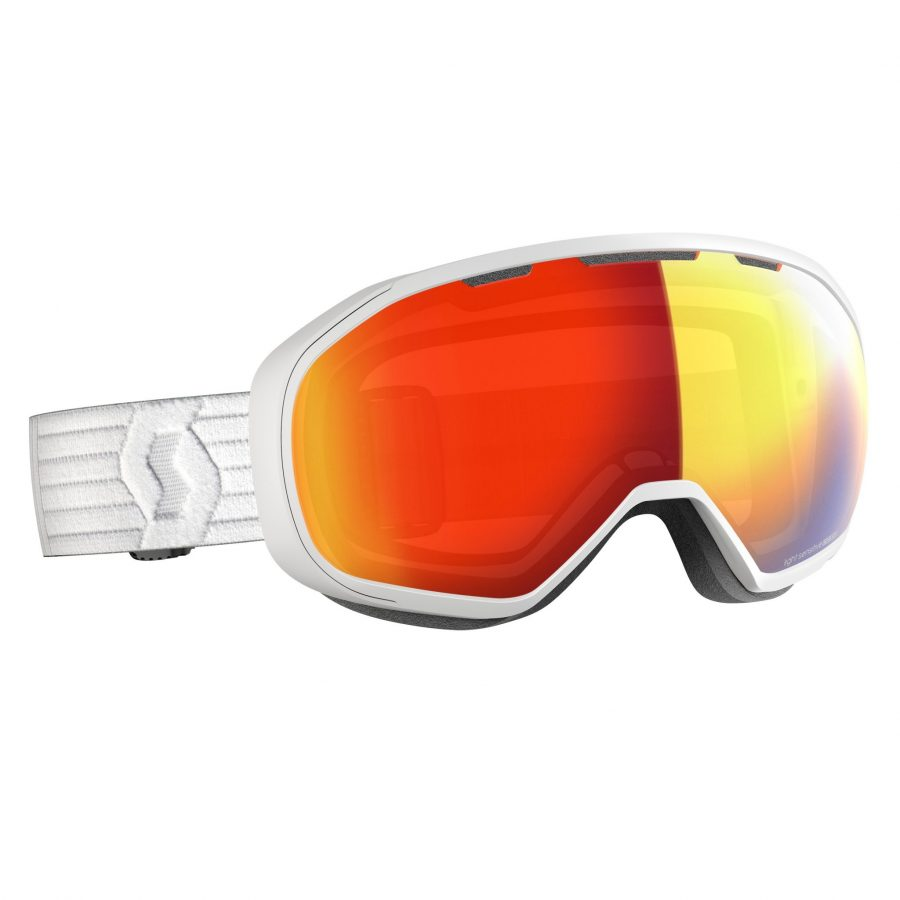 Scott Fix Light Sensitive Goggle - White LS Red Chrome - Front View