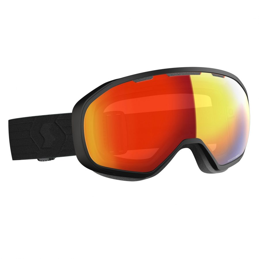 Scott Fix Goggle - Black Enhancer Red Chrome - Front View