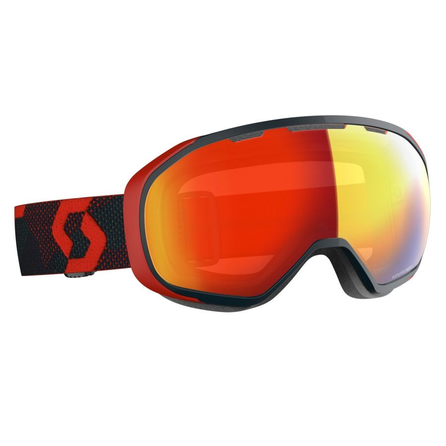Scott Fix Goggle - Red/Blue Nights Enhancer Red Chrome - Front View
