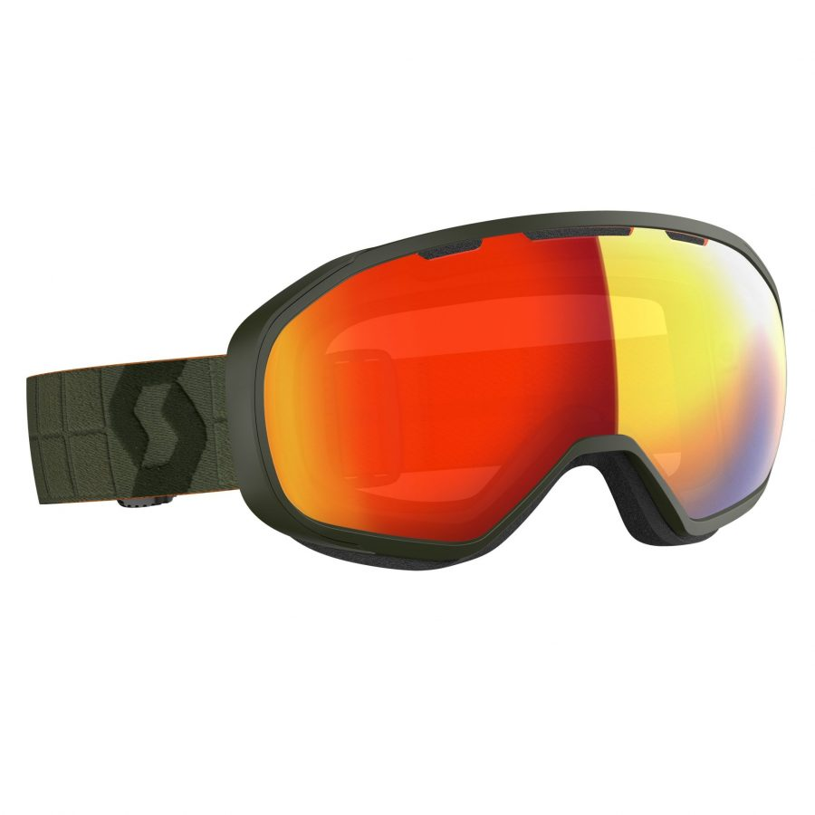 Scott Fix Goggle - Khaki Green Enhancer Red Chrome - Front View