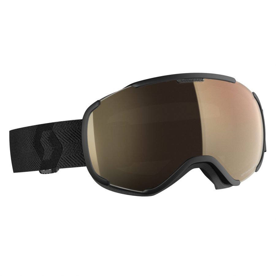 Scott Faze II Light Sensitive Goggle - Black LS Bronze Chrome - Front View