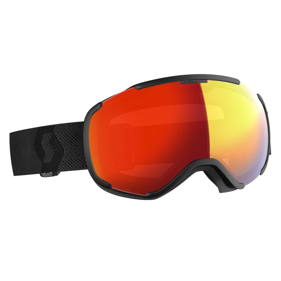 Scott Faze II Goggle - Black Enhancer Red Chrome - Front View