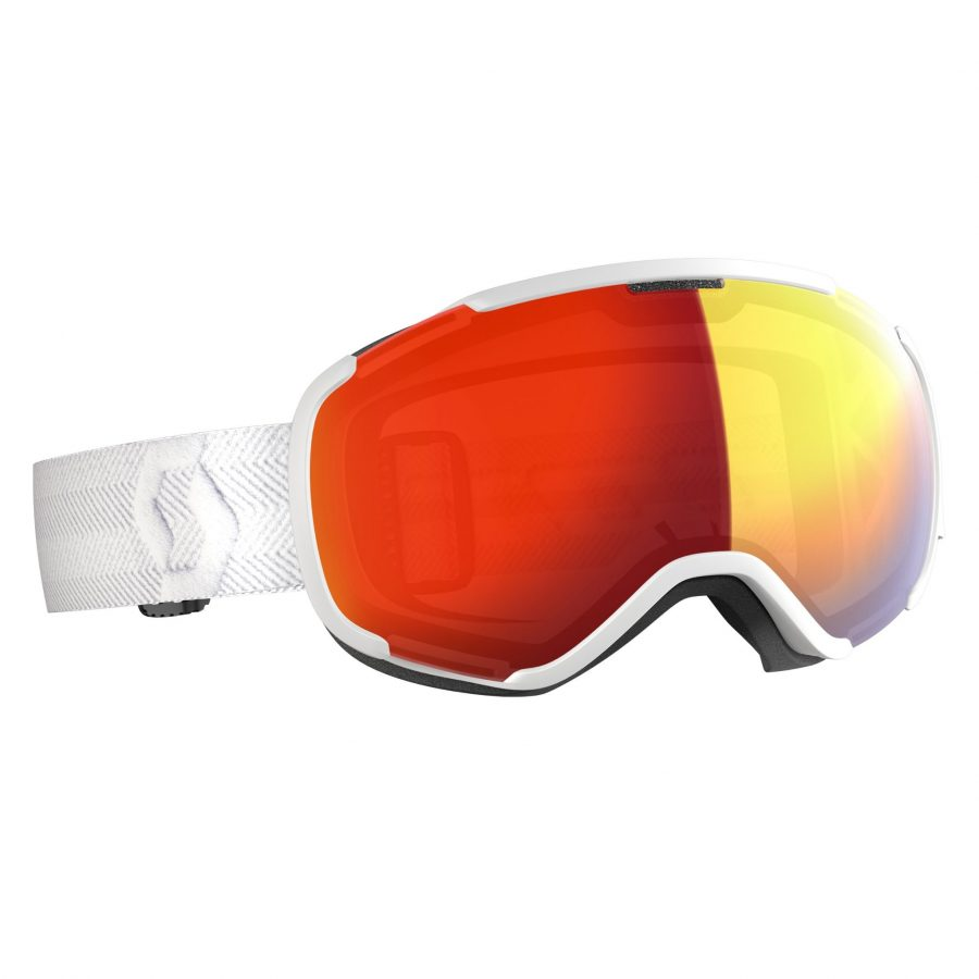 Scott Faze II Goggle - White Enhancer Red Chrome - Front View