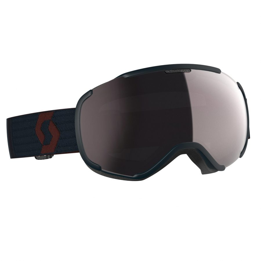 Scott Faze II Goggle - Merlot Red/Blue Nights Enhancer Silver Chrome - Front View