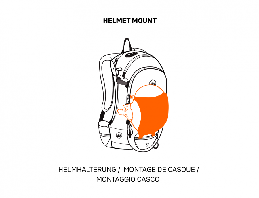 Terrawest Core 22 Litre Backpack -Helmet Mount