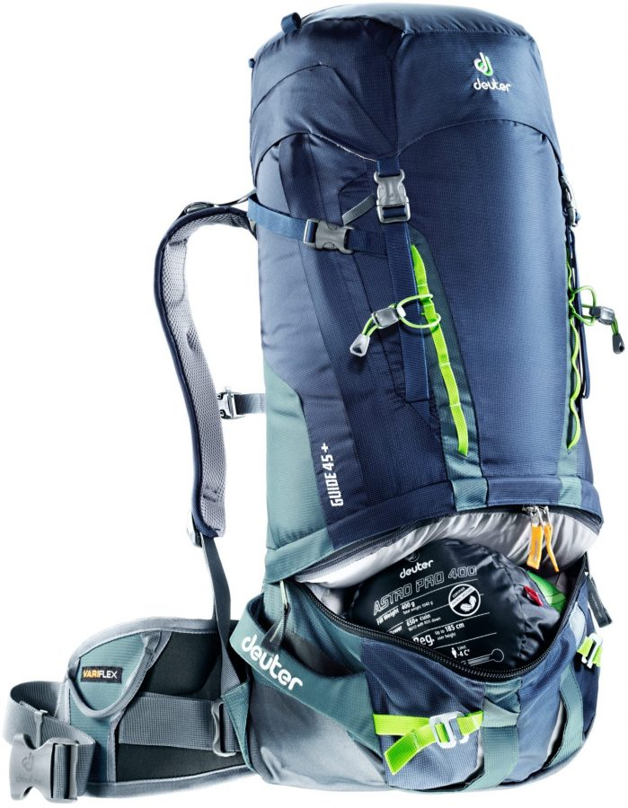Deuter Guide 45+ - Navy-Granite - Front Compartment