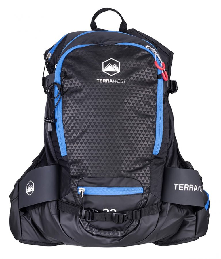 Terrawest Core 22 Litre Backpack (Recco Reflector Installed) - Front View