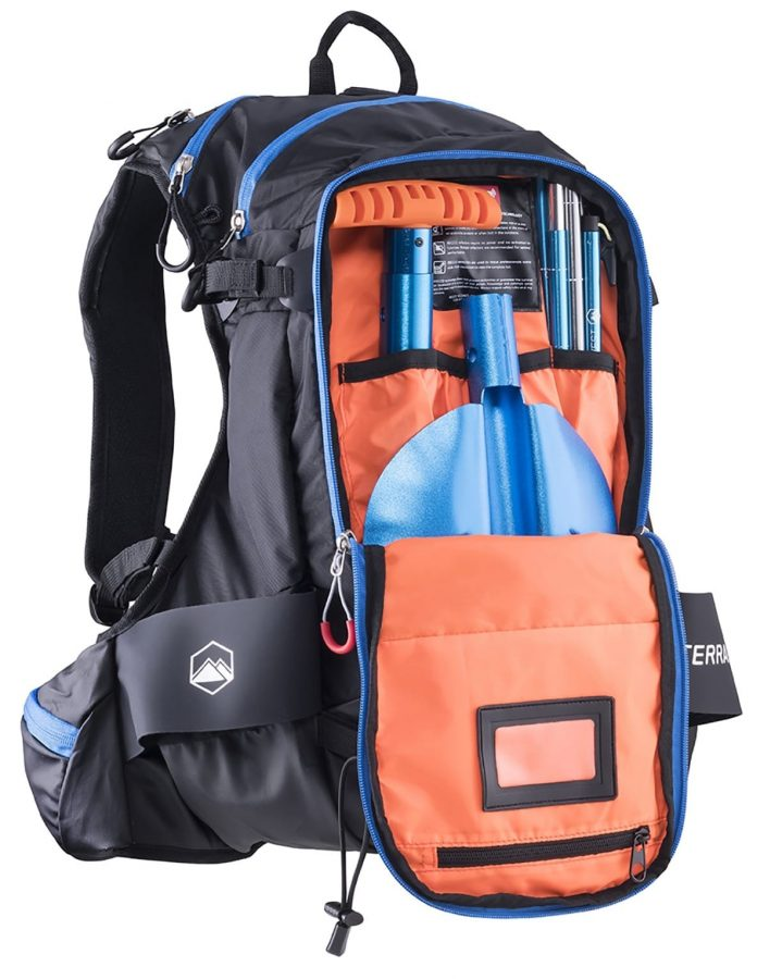 Terrawest Core 22 Litre Backpack (Recco Reflector Installed) - Shovel & Probe Compartment