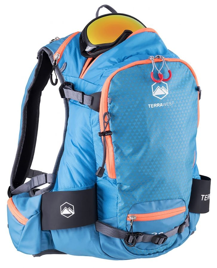 Terrawest Core 22 Litre Backpack (Recco Reflector Installed) - Fleece Lined Goggle Pocket
