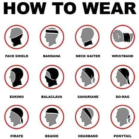 Wear your face scarf a number of ways