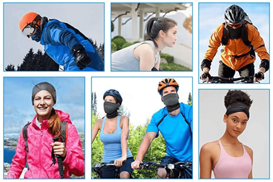 Wear your face scarf for many different activities