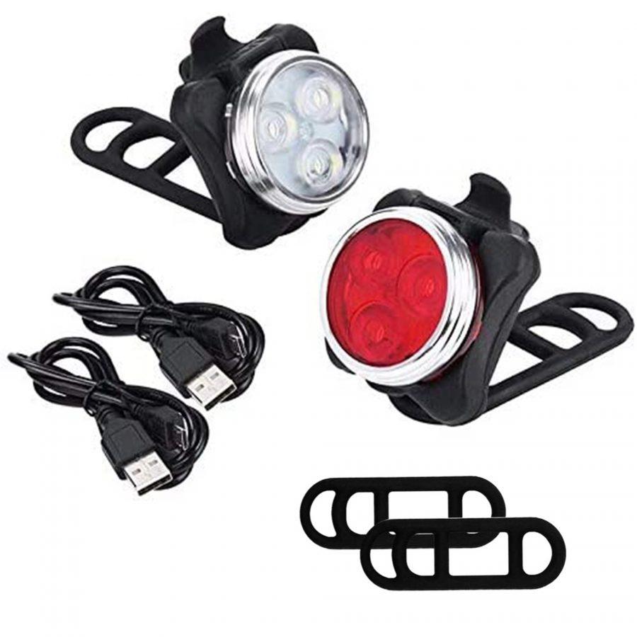 TerraWest USB Rechargeable Bike Light Set