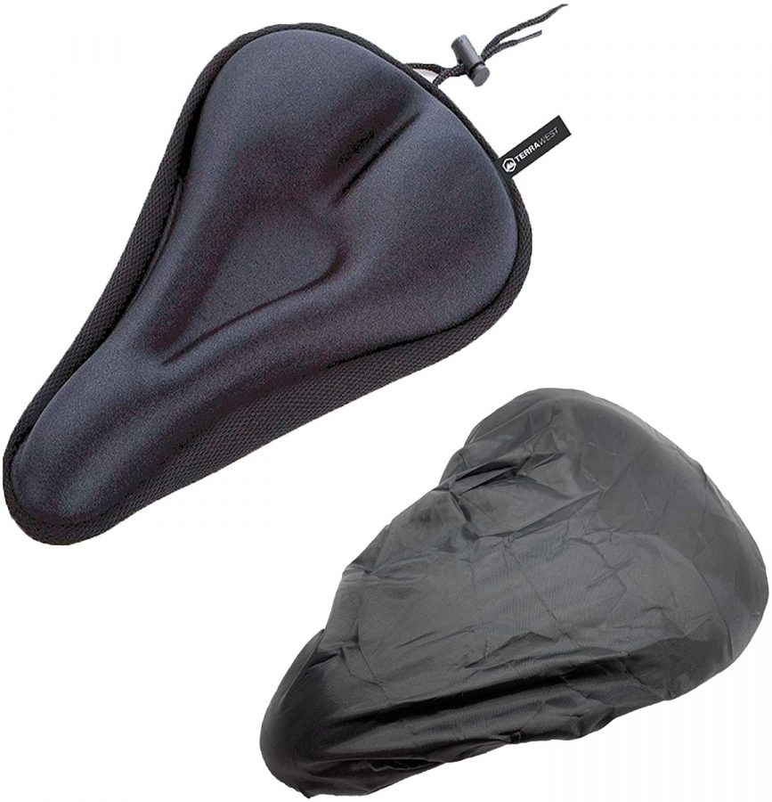 TerraWest Gel Bike Seat Cushion + Rain Cover