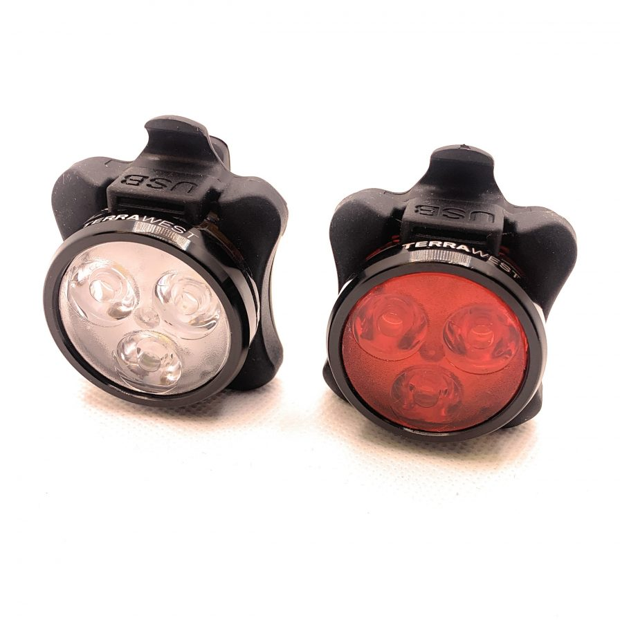 TerraWest Rechargeable LED Bike Light Set
