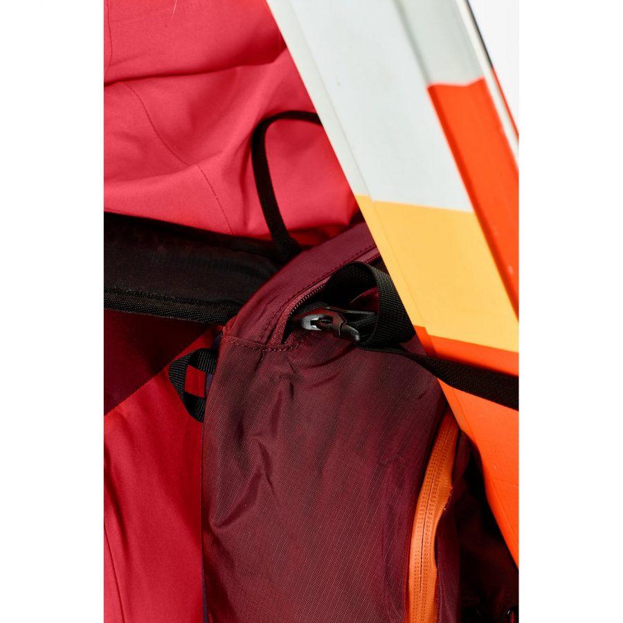 Ascent - Stow away ski attachment straps